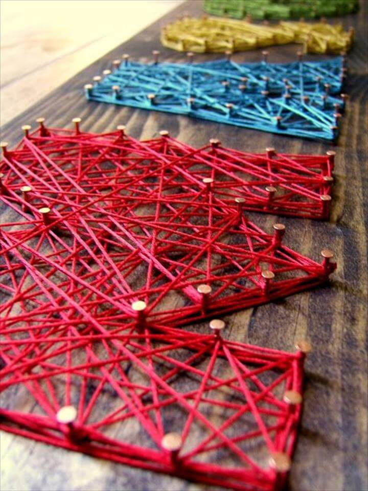 colorful string art