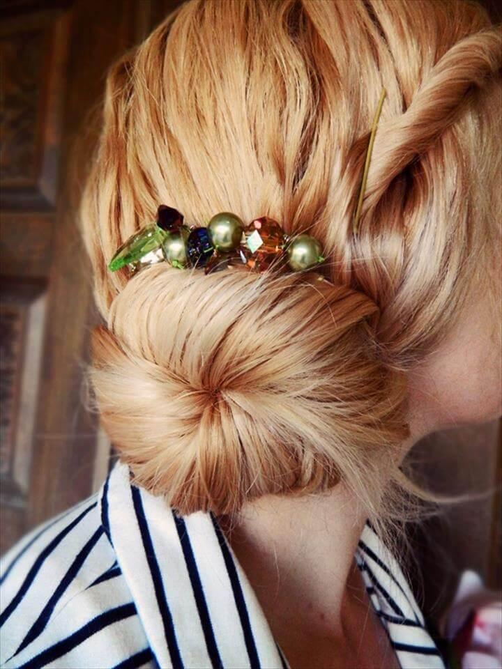 hair comb jewels cool diy