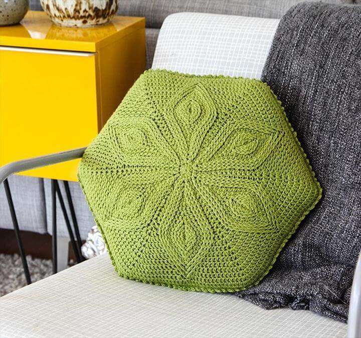 Hexagon Flower Pillow