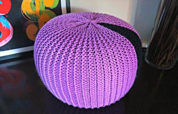 crochet round pillow