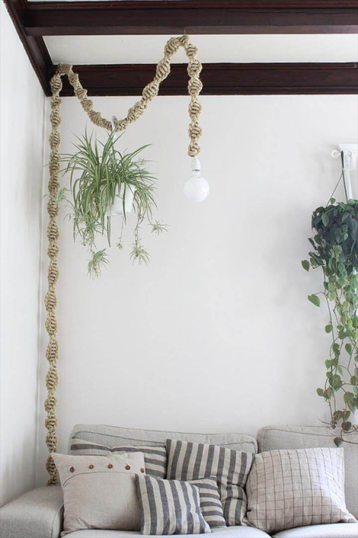 diy macrame lamp