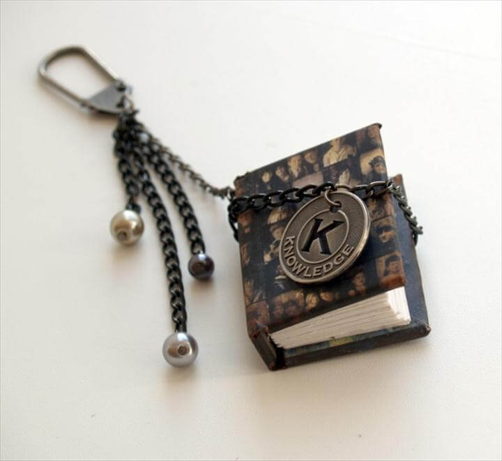 valentine gift idea men mini book key chain tutorial