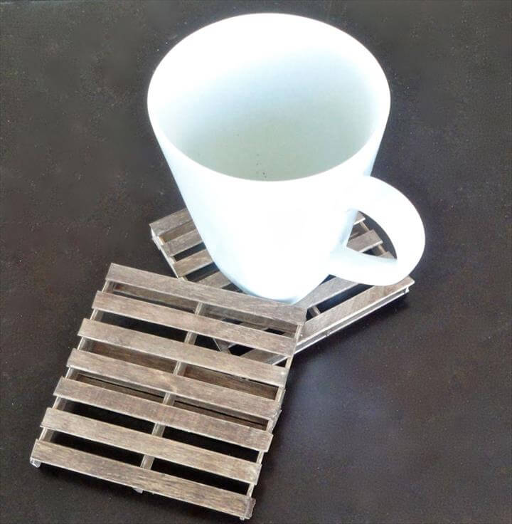 Mini coasters from popsicle sticks