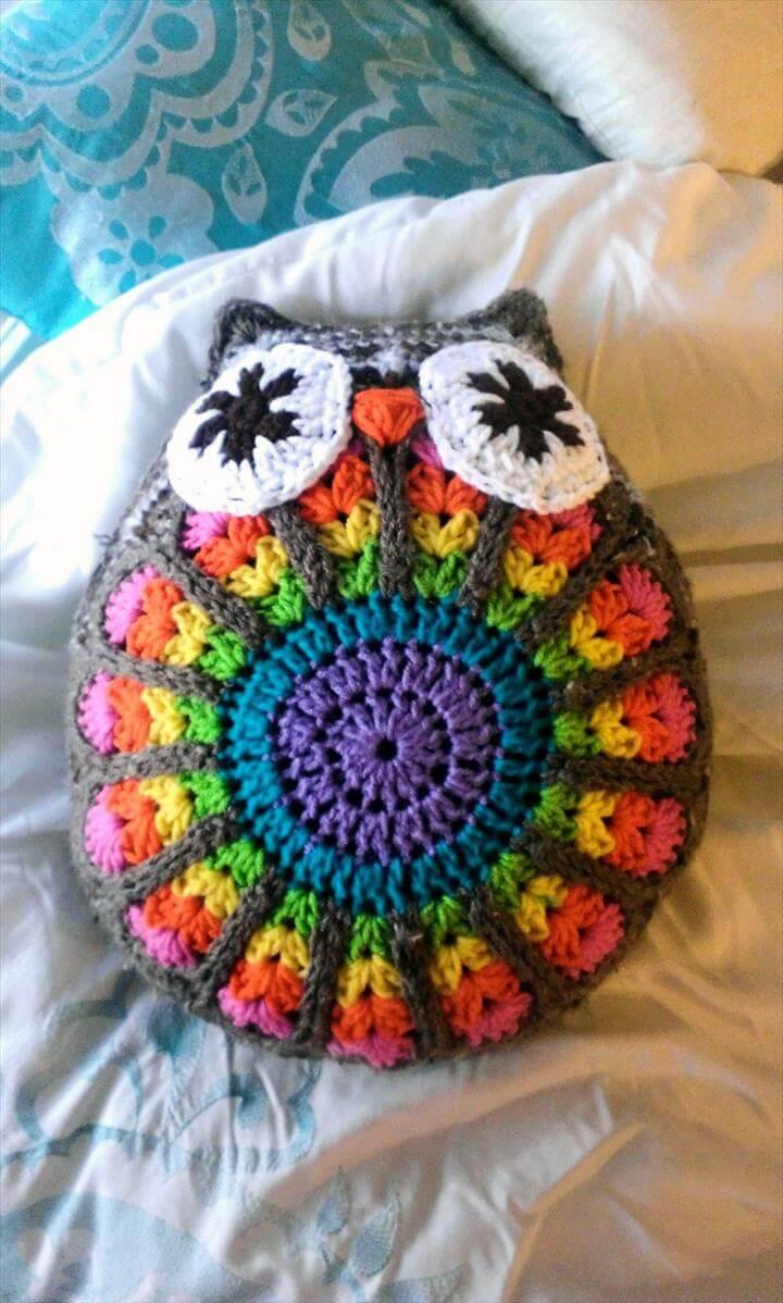 funny owl pillow