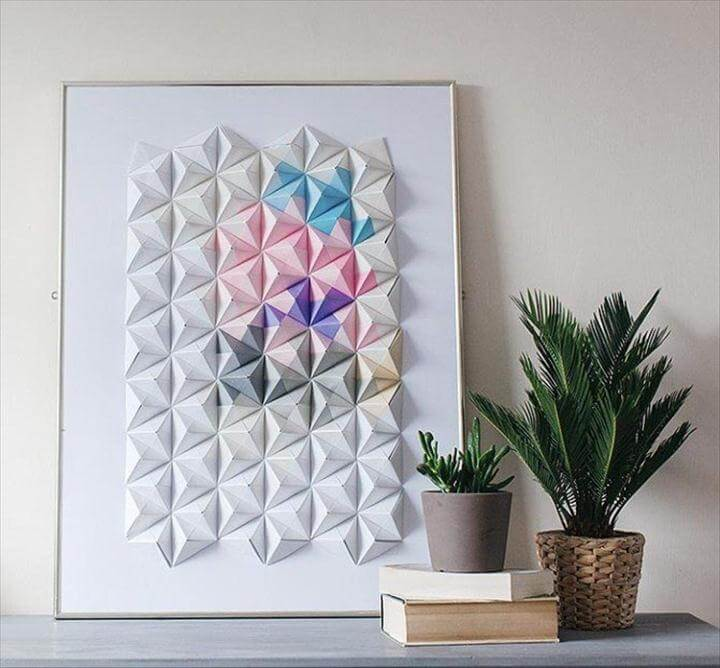 DIY 3D Typographic Wall Art, Origami wall art from Design Sponge