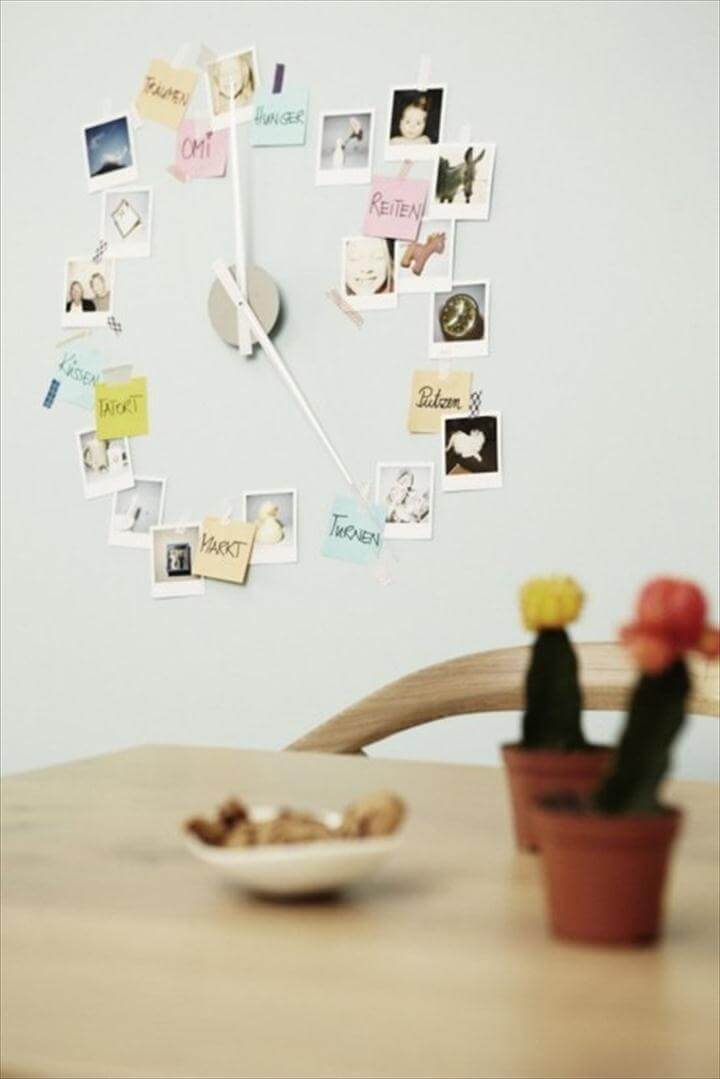 Unusual and Creative DIY Clocks, funny clock, photo clock idea