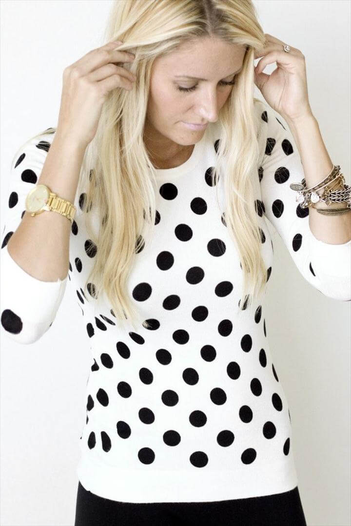 Dottie Polka Dot Sweater for Fall or Winter Outift Inspiration