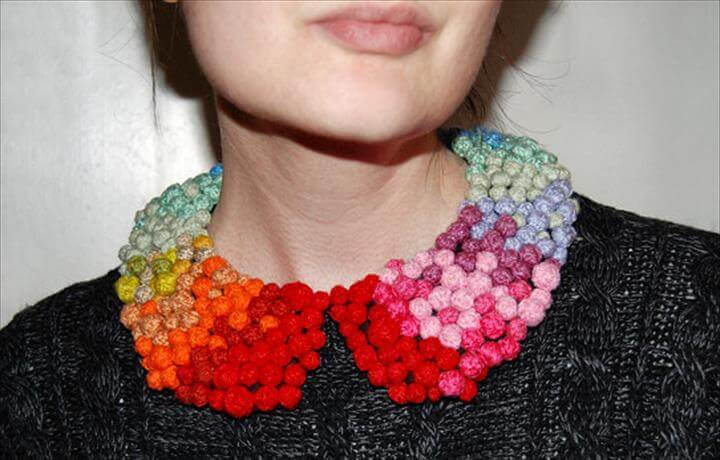 collar pom pom necklace