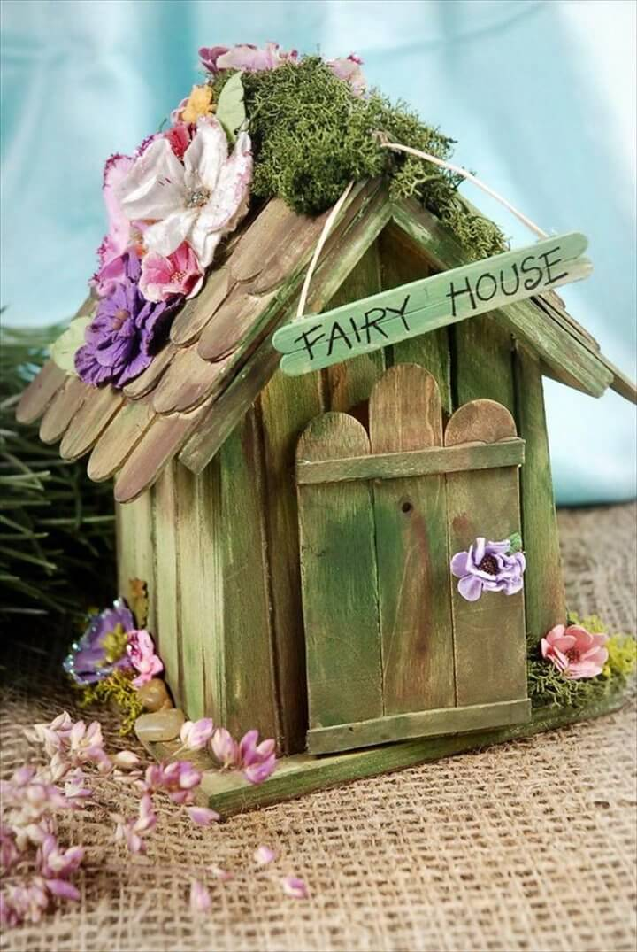 Homemade Popsicle Stick House Designs