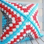 Granny Square Pillow - B.hooked Crochet Retro Square Pattern