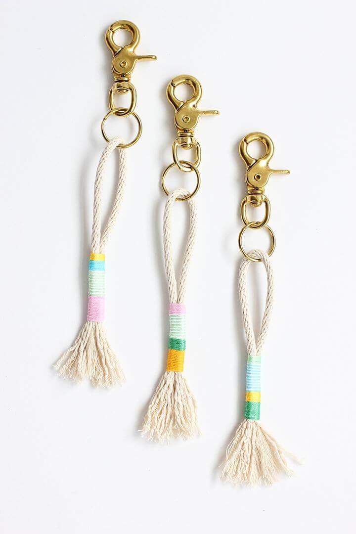 Rope Tassel Keychains DIY