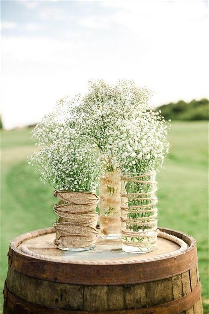 Simple wedding centerpieces, Simple wedding decorations and Simple elegant centerpieces, Stunning Rustic Wedding Centrepieces