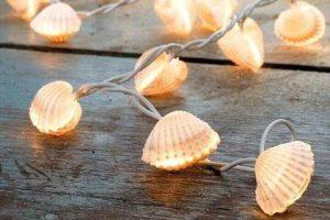 beach seashell lights
