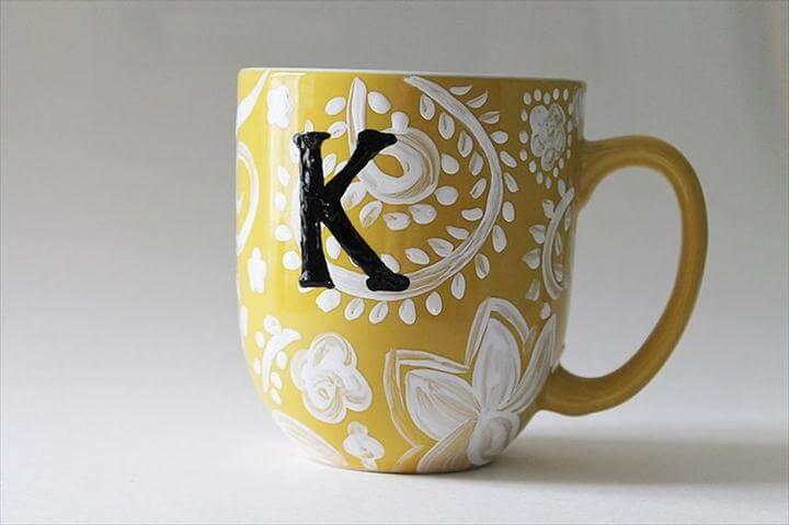 Simple Coffee Mug Painting Ideas