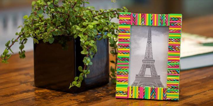 Straw Picture Frame
