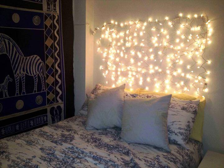 Stylish String Lights For Bedroom pertaining to Interior Remodel Ideas with String Lights For Bedroom Make
