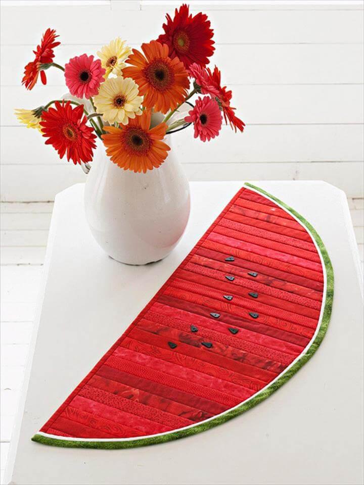 Summer-Inspired Watermelon Table Runner