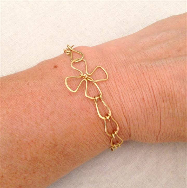 Teardrop Link Handmade Bracelet Chain DIY with free jewelry