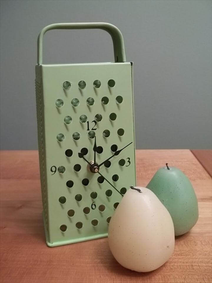 Cheese Grater Clock