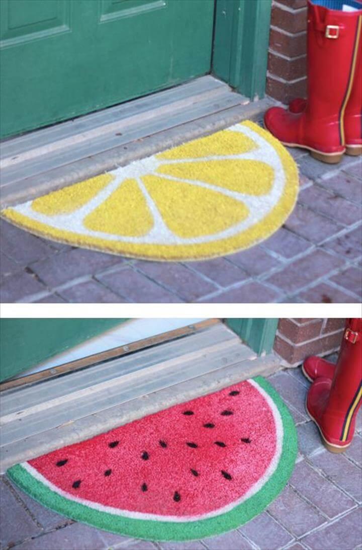 DIY Outdoor Fruit Rug