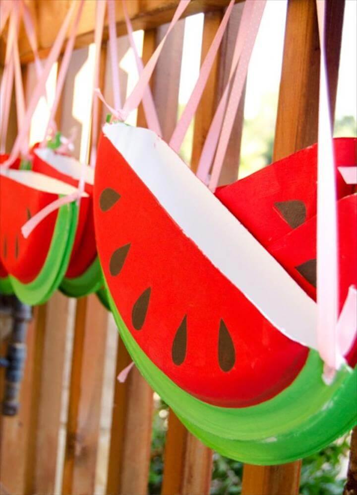 Watermelon Paper-Plate-Purses