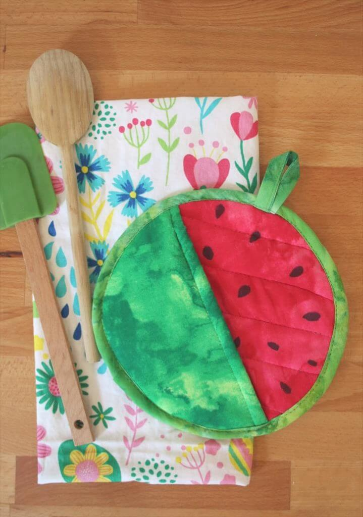 Watermelon Potholder DIY