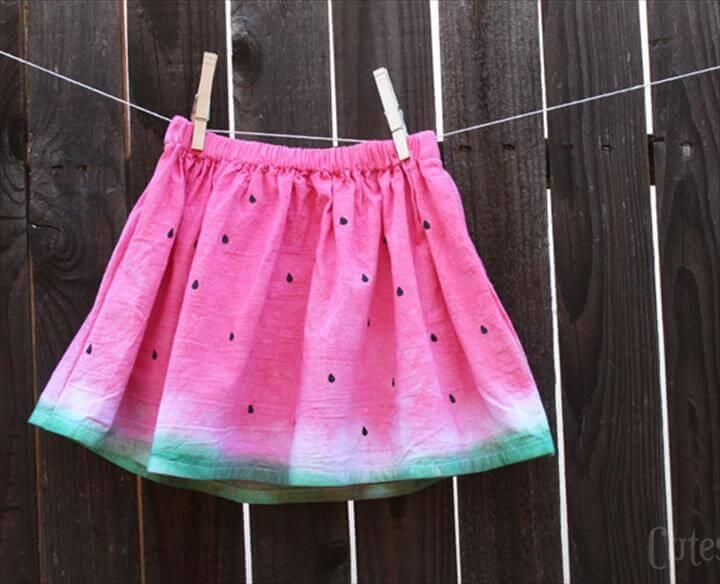 Dip Dye Watermelon Skirt