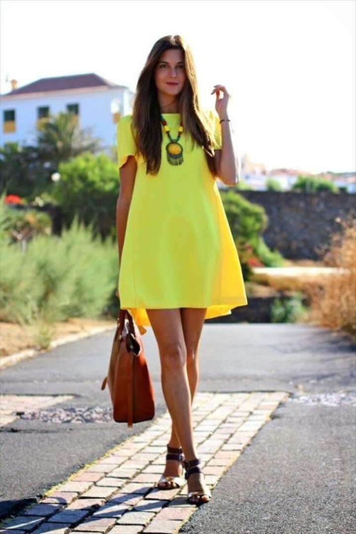 women's dresses yellow dress sundress short