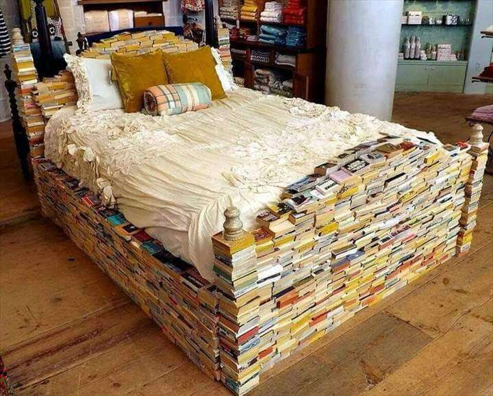 A Bed Made of Books at Anthropologie
