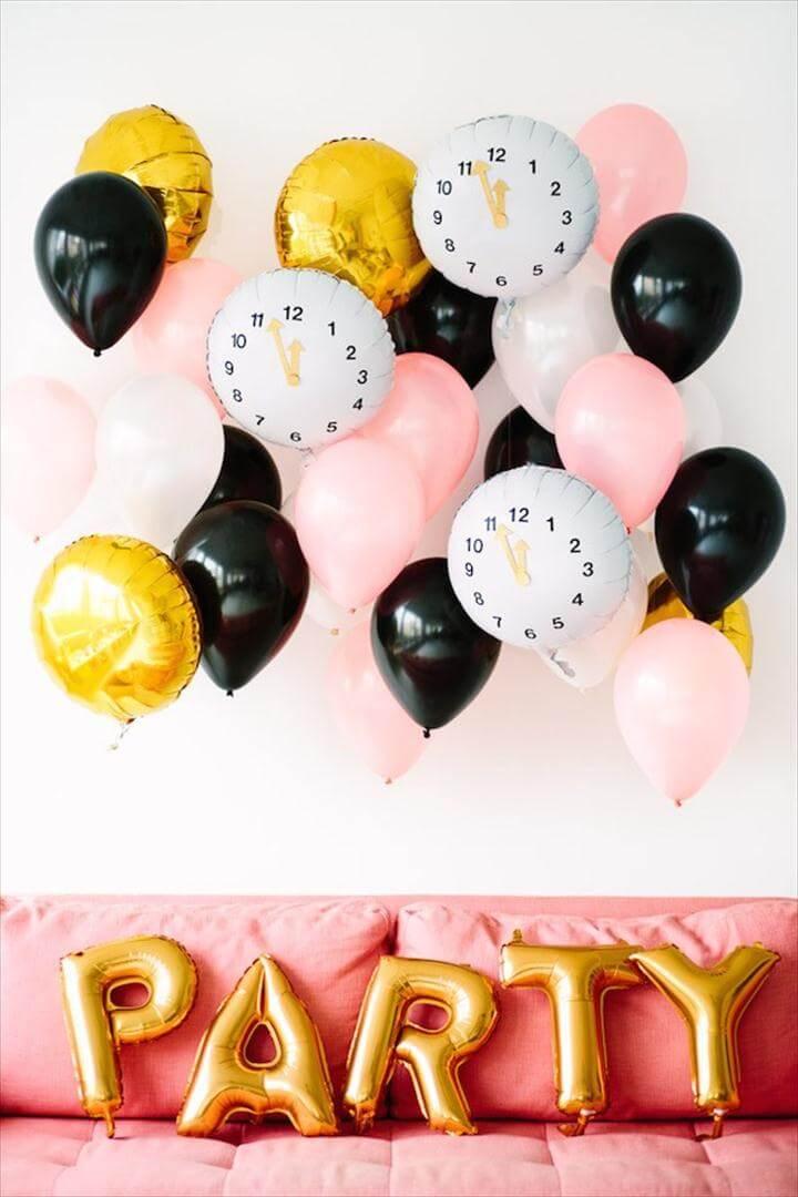 diy colorful balloon clock