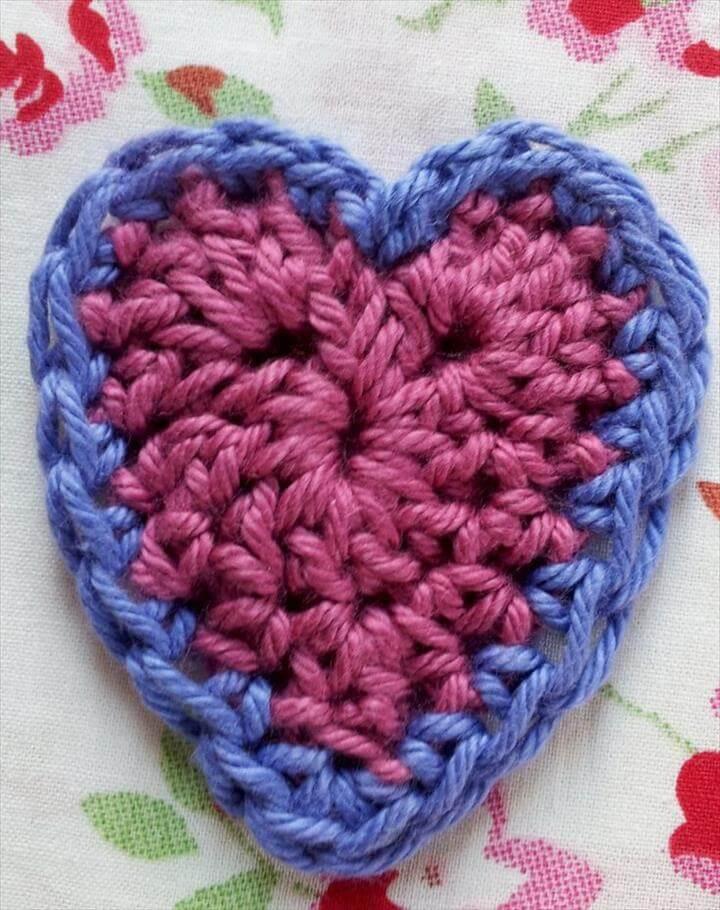 Beginners Crochet Hearts - Free Pattern