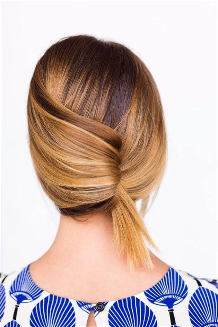 Casual Summer French Twist, Cool Hair Tutorials for Summer - Casual Summer French Twist - Easy Hairstyles and Creative Looks