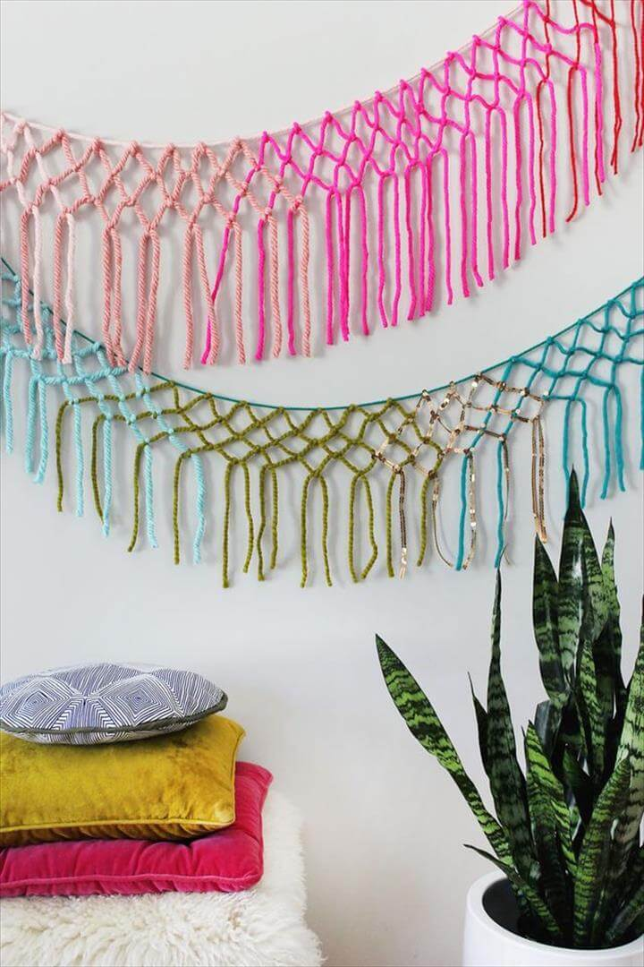 colorful wall hanging idea