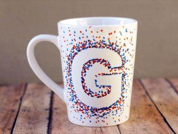 vbeautiful coffee mug, letter coffee mug, coffee mug design