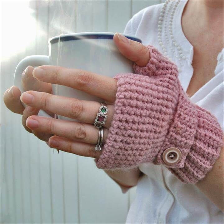 crocheted fingerless gloves tutorial and pattern