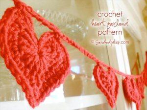 28 DIY Heart Shape Crochet Tutorials