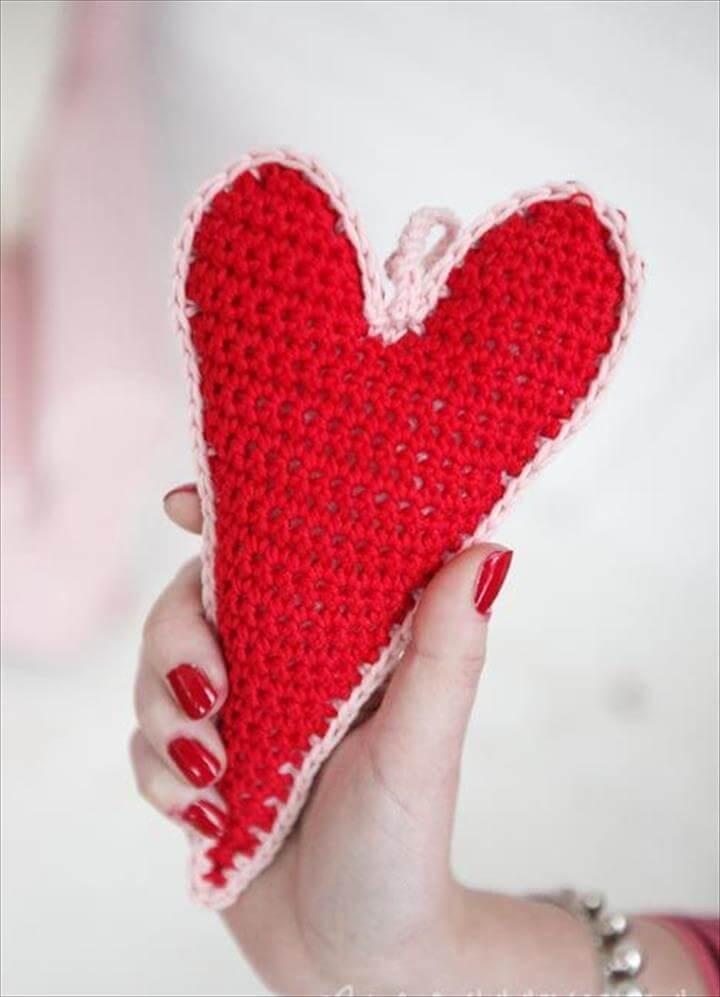 Crochet Skinny Hearts