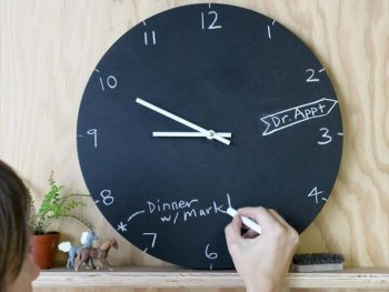 Chalkboard Clock, diy home decor