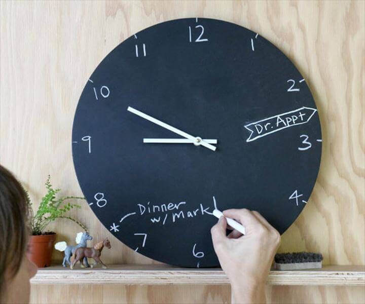 Chalkboard Clock, diy home decor