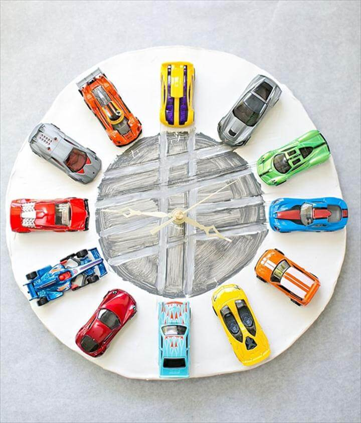 Car Clay Clock Ideas