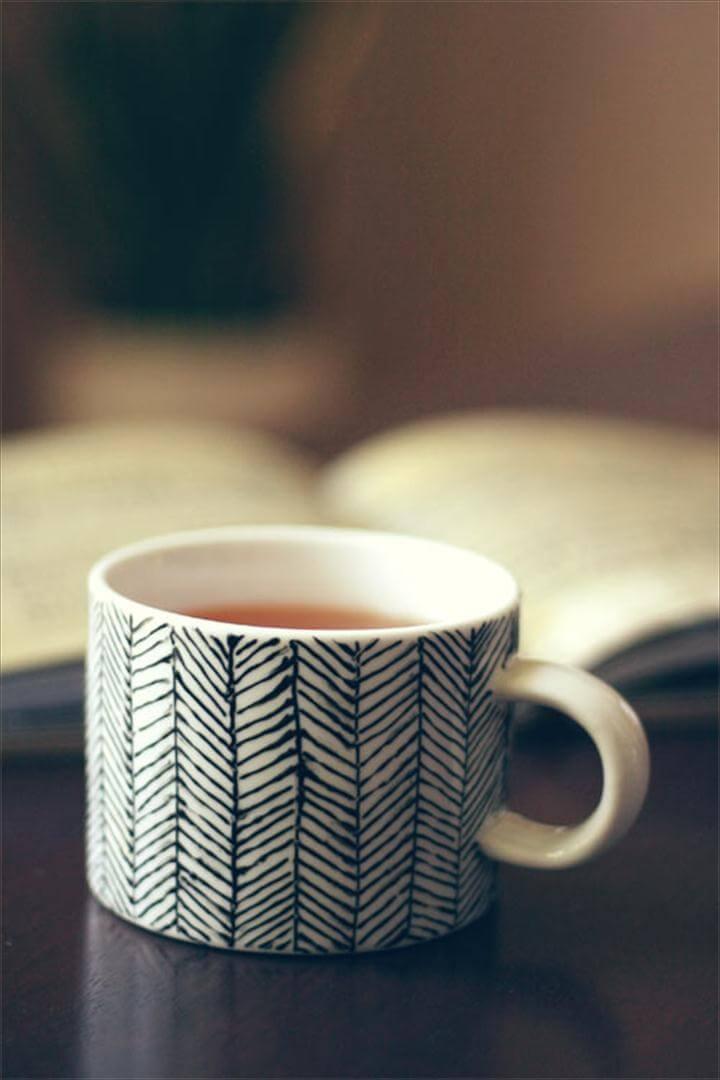 DIY coffee mug, handpaint coffee mug