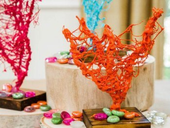 DIY Hot Glue Coral Art