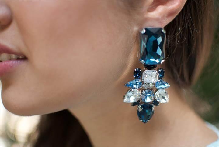 stylish jeweled earrings