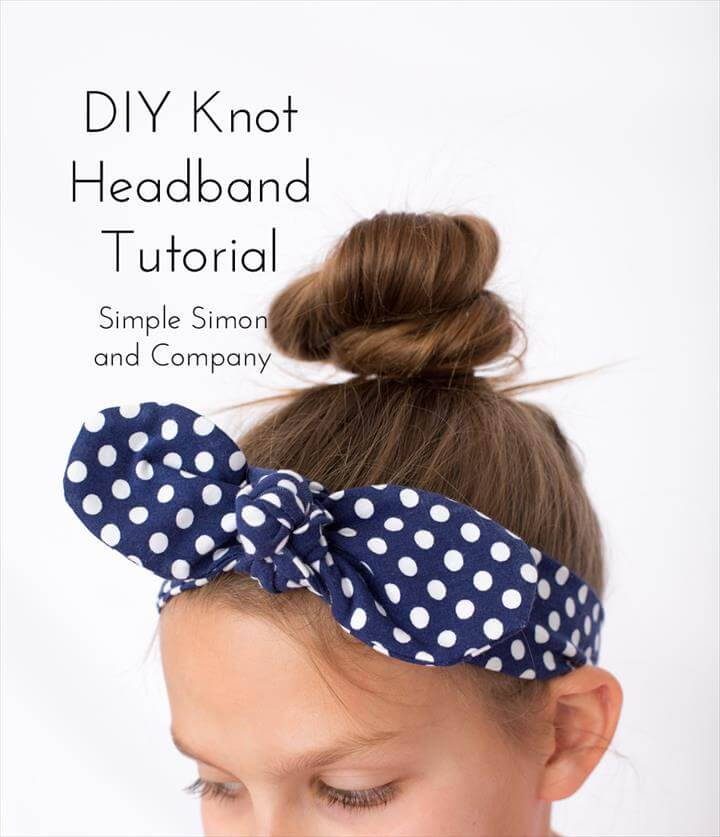Simple DIY Knot Headband Tutorial