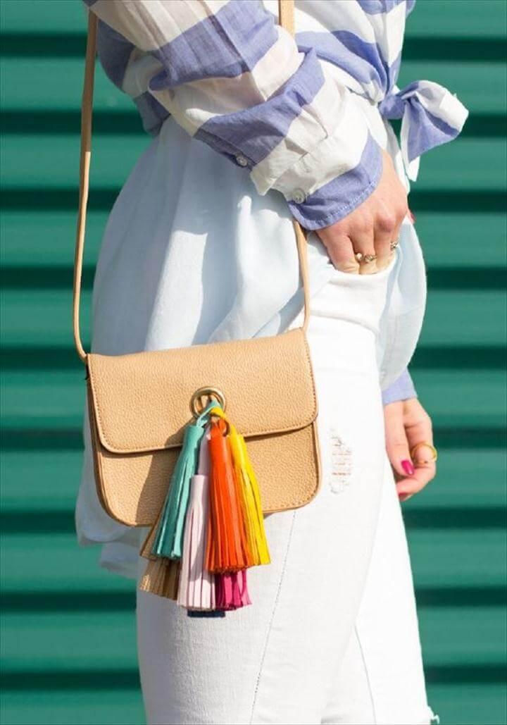 Rebecca Minkoff Inspired Tassel Handbag