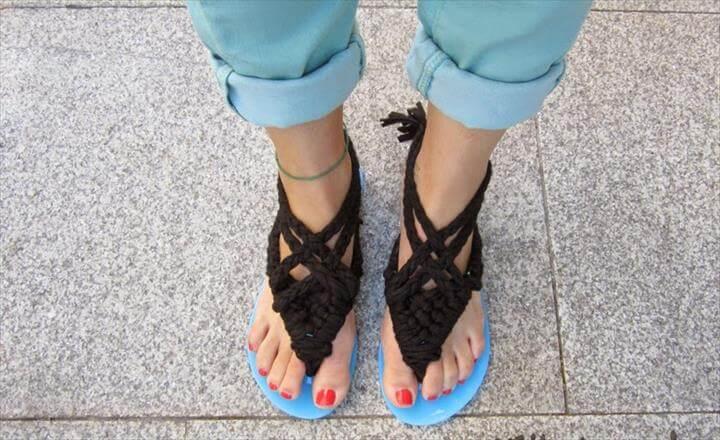DIY Macrame Sandals