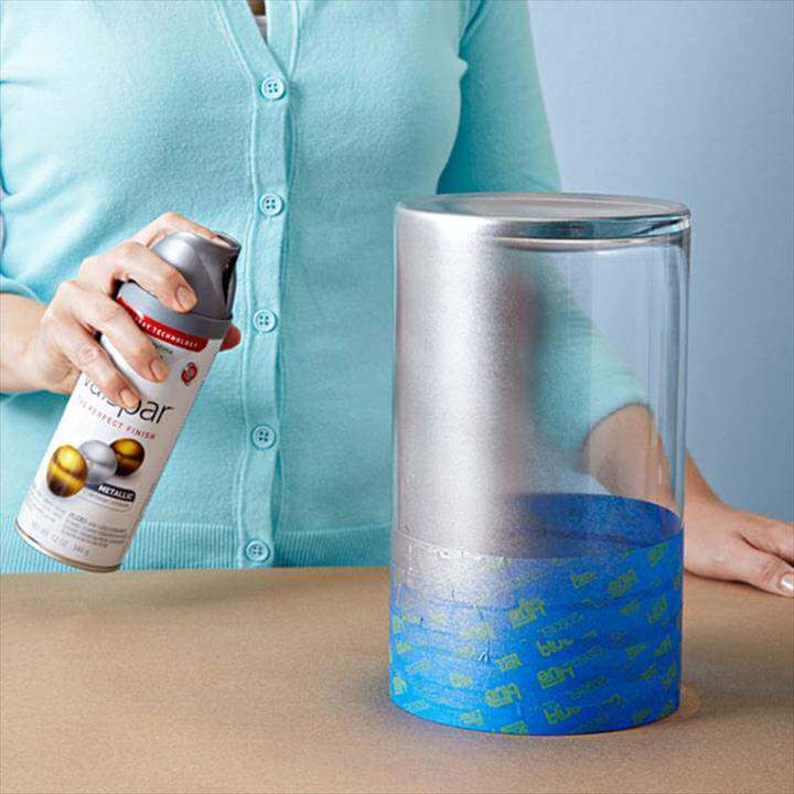 Metallic Painted Vase Lowes Paint Glass Vases Spray Painting The Upside Down You Can Use It ...Paint VasesPainting Glass Vases IdeasChalk Paint Glass VasesDIY Painted Glass VasesDIY Swirl Paint Glass VasesHow to Paint a Glass BottleDIY Painted VasesPainting Vases with Acrylic Paint