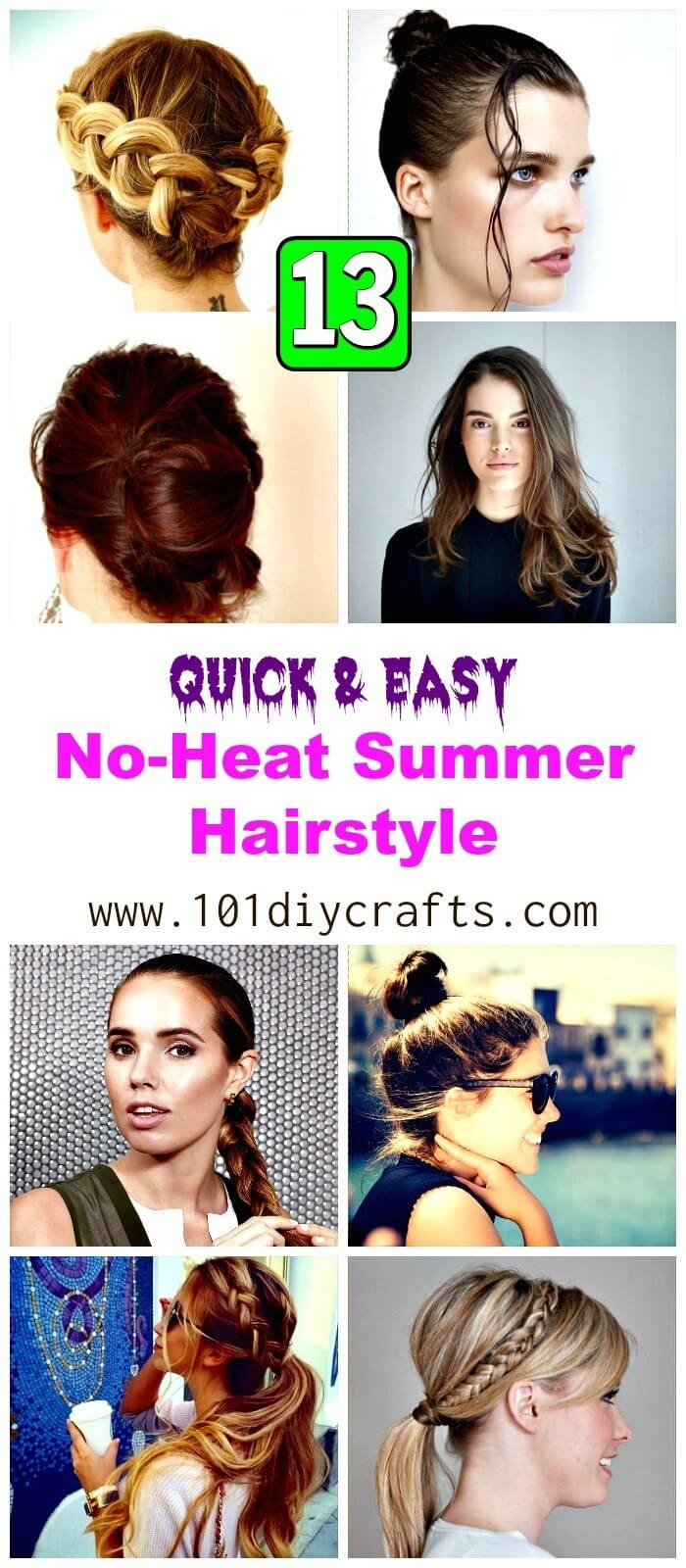 13 Quick & Easy No-Heat Summer Hairstyle