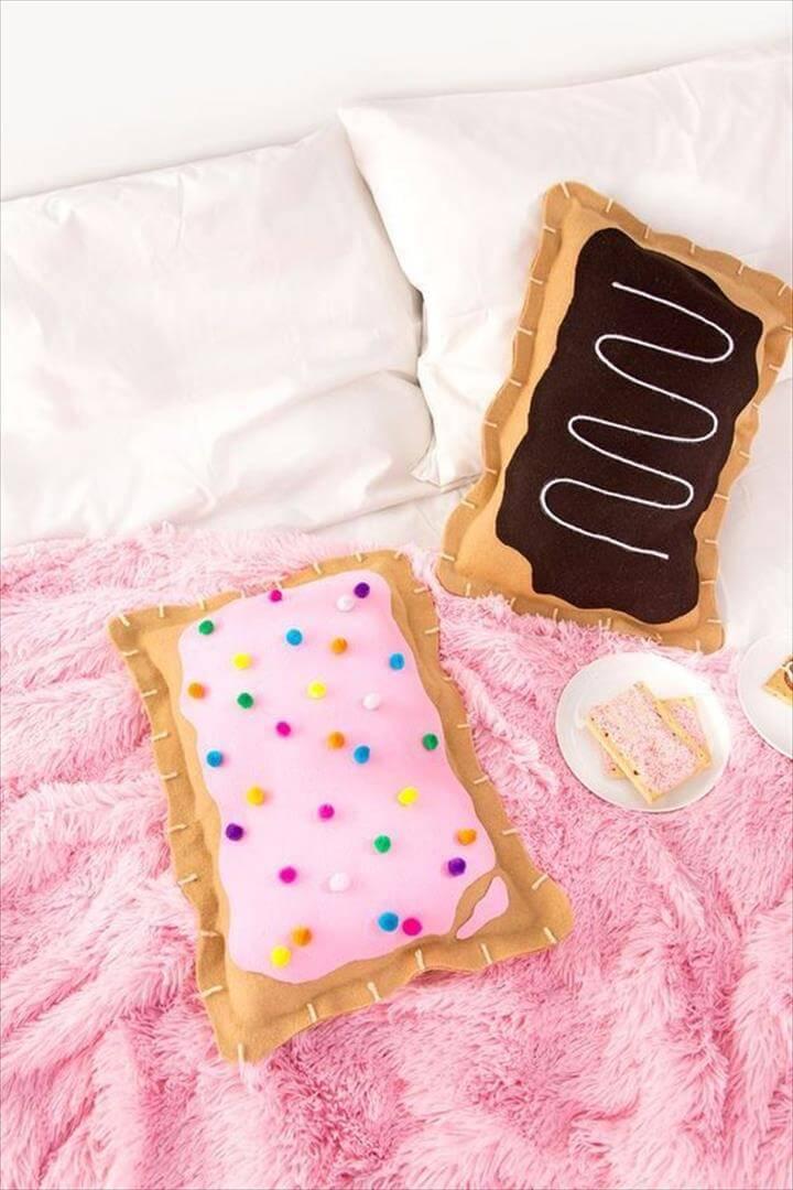DIY Pop Tart Pillows, DIY Room Decor, No-Sew Pop Tart Pillow