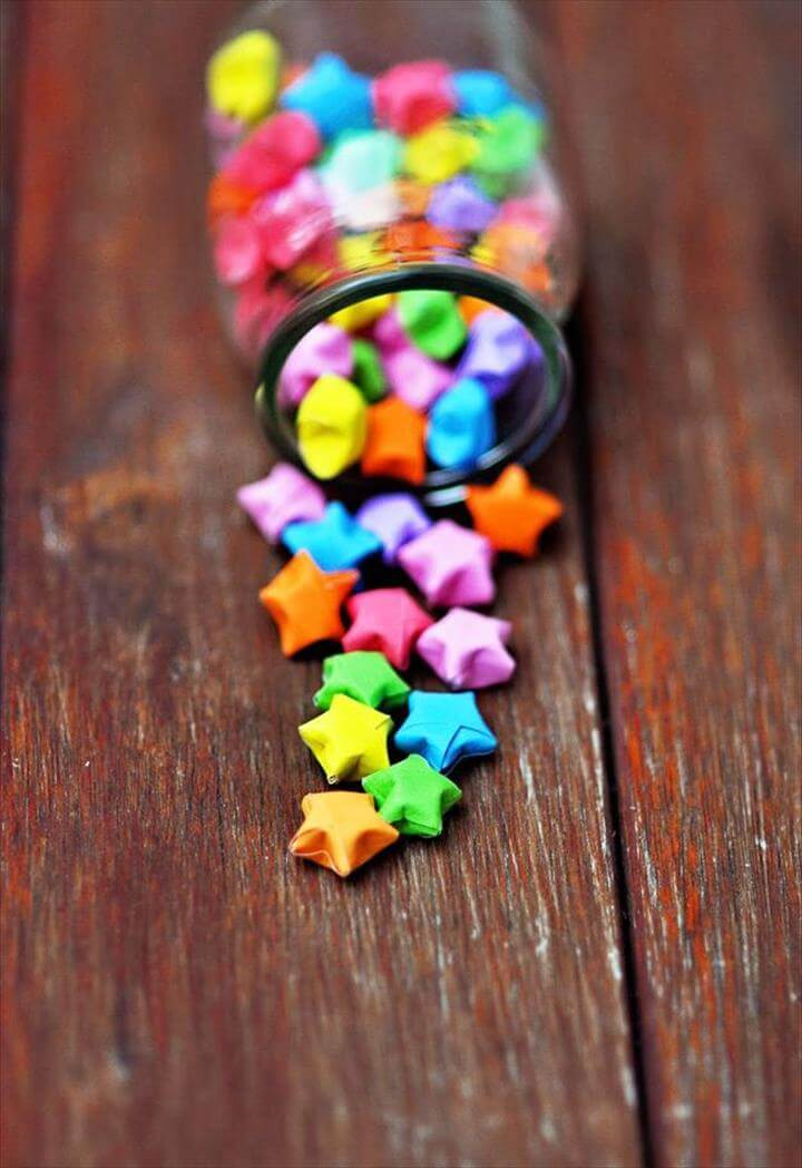 colorful origami stars